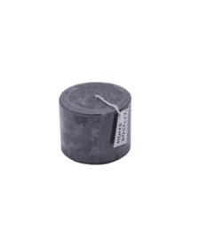 Pillar Candle 9x7cm D.Grey