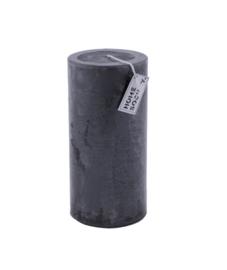 Pillar Candle 9x20cm D.Grey