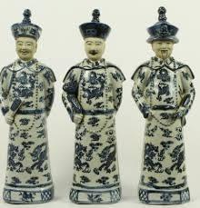 Chinees beeldjes keizer/ grootvader/vader/zoon