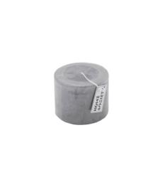 Pillar Candle 9x7cm Grey Dawn