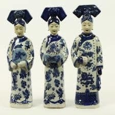 Set keizerinnen blauw/wit