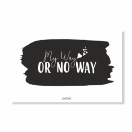 Kadokaart | My way or no way, per 10 stuks