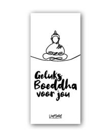 Geluks boeddha (one line), per 10 stuks