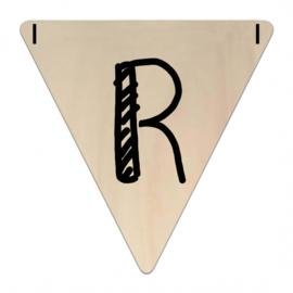 Houten Vlaggetje | R (letter) (per 5)