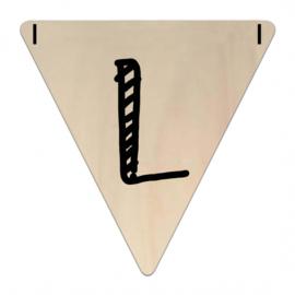 Houten Vlaggetje | L (letter) (per 5)