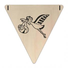 Houten Vlaggetje | Ooijenvaar (symbool) (per 5)