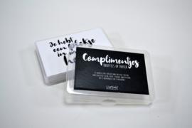 Complimenten box (knuffels op papier)