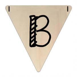 Houten Vlaggetje | B (letter) (per 5)