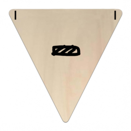 Houten Vlaggetje | - (symbool) (per 5)