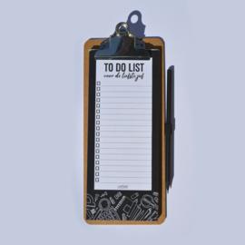 Klembord to do list van de liefste juf