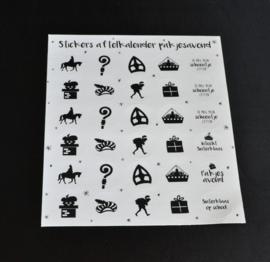 Aftelkalender met sticker (A4)