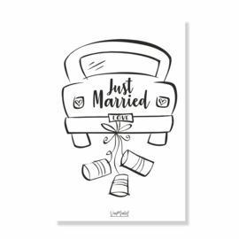 Kadokaart | Just married, per 10 stuks