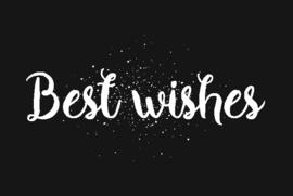 Kadokaart | Best wishes, per 10 stuks