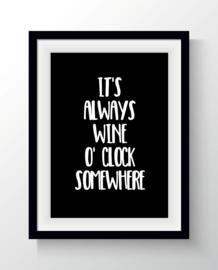 It's always wine o'clock somewhere