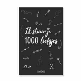 Kadokaart | 1000 liefsjes, per 10 stuks