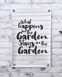 Tuinposter - What happens in the garden...