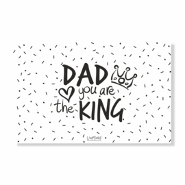 Kadokaart | Dad you are the king, per 10 stuks
