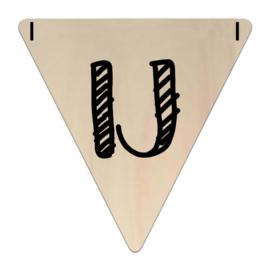 Houten Vlaggetje | IJ (letter) (per 5)