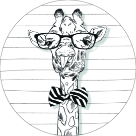 Wandcirkel - Giraffe (tong)