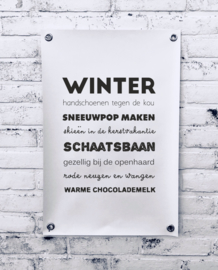 Tuinposter - Winter