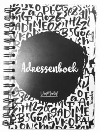 Adressenboekje met tabbladen