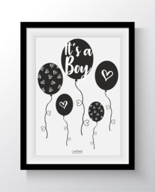 Hoera een boy ballon