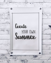 Tuinposter - Create your own summer