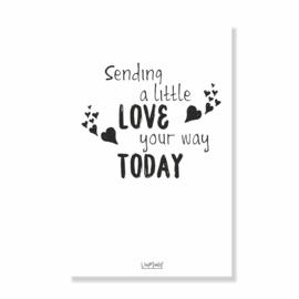 Kadokaart | Sending a little love, per 10 stuks
