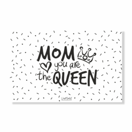 Kadokaart | Mom you are the queen, per 10 stuks