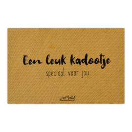 Kadokaart (kraft) | Een leuk kadootje, per 10 stuks