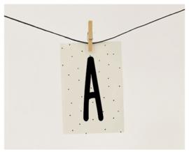 Naamslinger letter A (per 10)