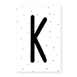 Naamslinger letter K (per 10)