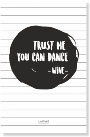 Kadokaart | Trust me you can dance, per 10 stuks
