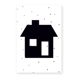 Naamslinger Symbool huisje (per 10)