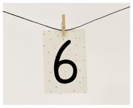 Naamslinger Cijfer 6 (per 10)