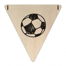 Houten Vlaggetje | Voetbal (symbool) (per 5)