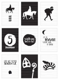 Kaartenslinger Sinterklaas (set van 9 kaarten)