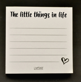 The little things in life notitieblok