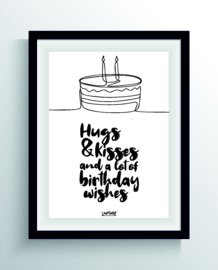 Hugs & kisses (one line)