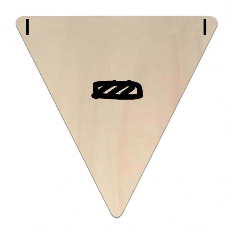 Houten Vlaggetje   - (symbool) (per 5)
