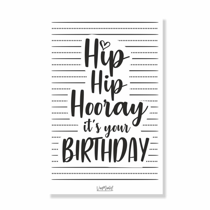 Kadokaart | Hip hip hooray, it's your birthday, per 10 stuks