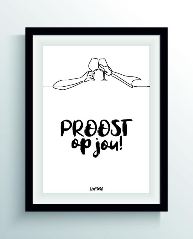 Proost op jou (one line)