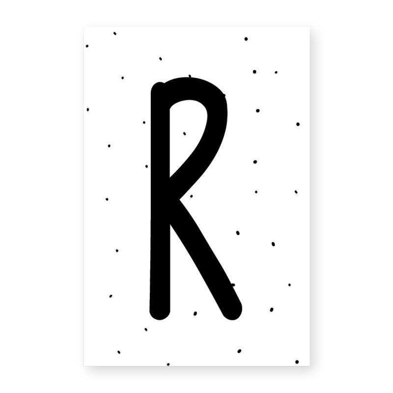 Naamslinger letter R (per 10)
