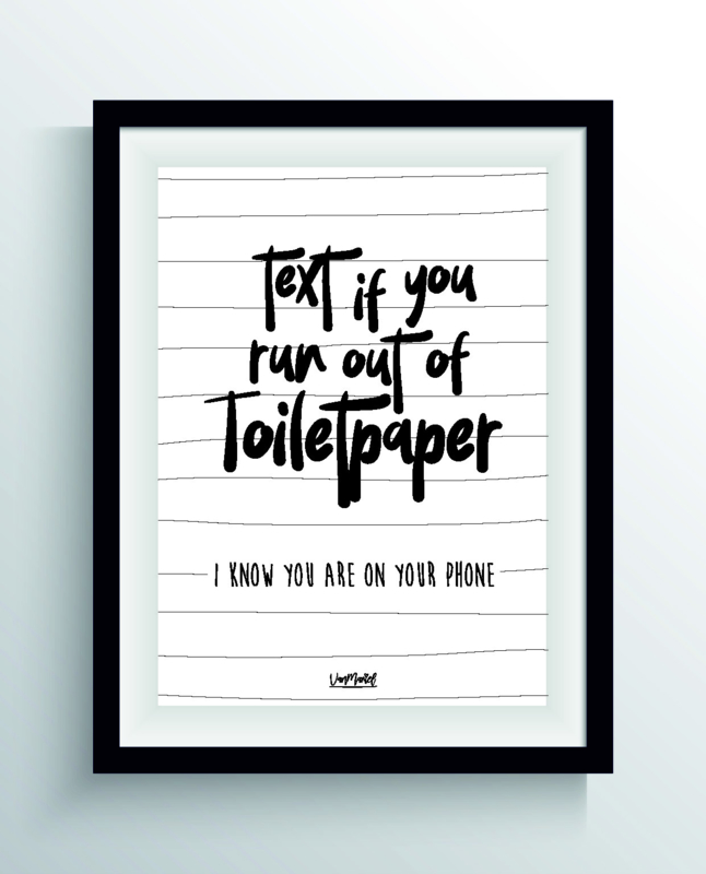 Text if you run out of paper