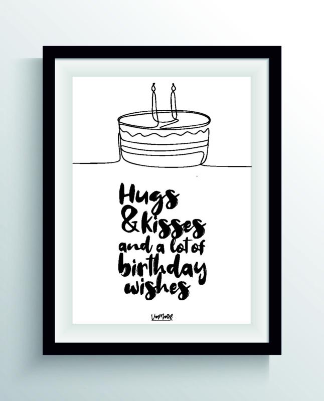 Hugs & kisses (one line)