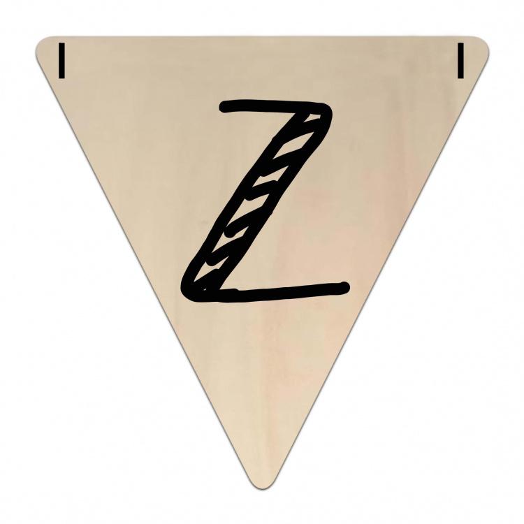 Houten Vlaggetje | Z (letter) (per 5)