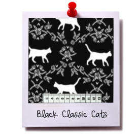 catnip cat pillow BLACK CLASSIC CATS