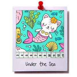 catnip cat pillow UNDER THE SEA