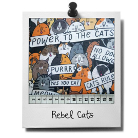 catnip cat pillow REBEL CATS