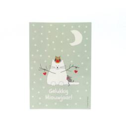 Sneeuwkat in winterlandschap (glanzend)